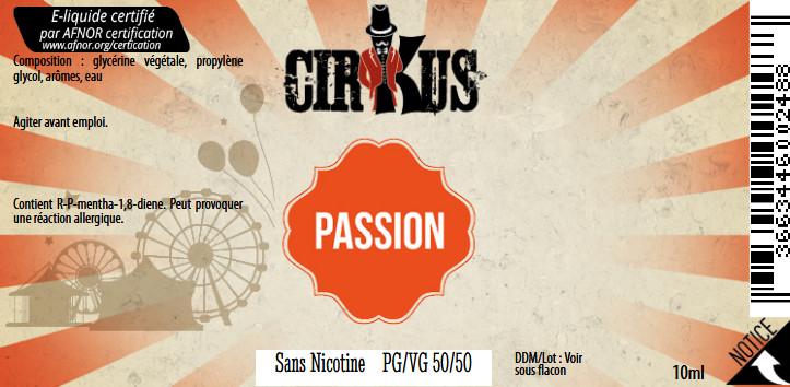 E-Liquide Passion 10ml 50/50 - Cirkus Authentic | Vincent Dans Les Vapes étiquette 0 mg