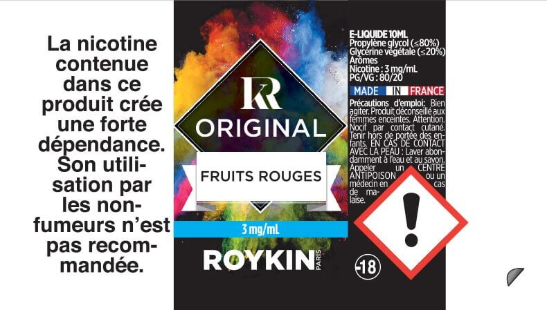 Fruits Rouges - Roykin Original étiquette 3 mg