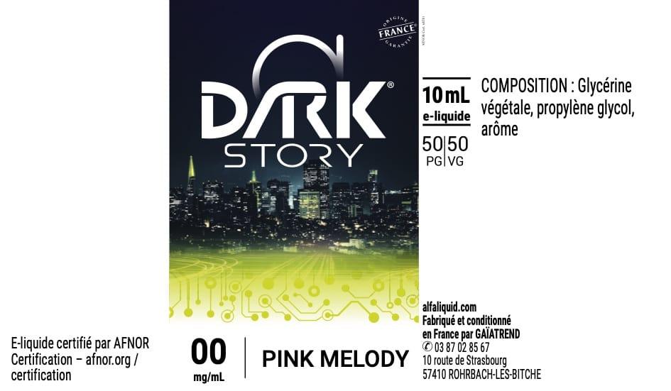 E-Liquide PINK MELODY 10ml - Dark Story | Alfaliquid étiquette 0 mg