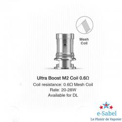 Résistance Ultra Boost Coil Lost Vape pour Q-ultra 0.6 ohm 20-28w