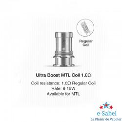 Résistance Ultra Boost Coil Lost Vape pour Q-ultra 1.0 ohm 8-15w