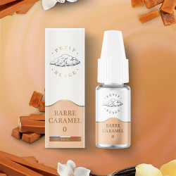 e-liquide barre caramel 10ml, petit nuage