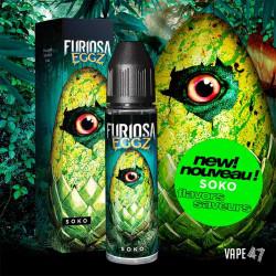 Soko 50ml - eliquide de la gamme Furiosa Eggz de chez Vape47