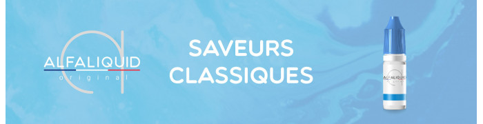 Saveurs Original Classique, e-liquides Alfaliquid | e-Sabel